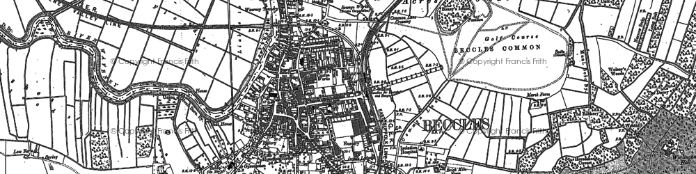 Old map of Beccles in 1903