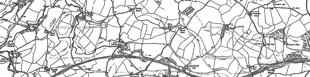 Old map of Wythmoor in 1896