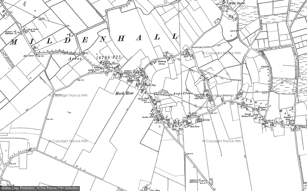 Old Map of Historic Map covering Weston Ditch in 1882