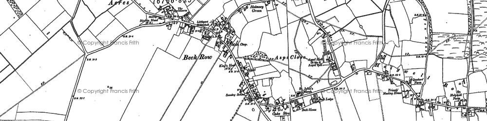 Old map of Weston Ditch in 1882