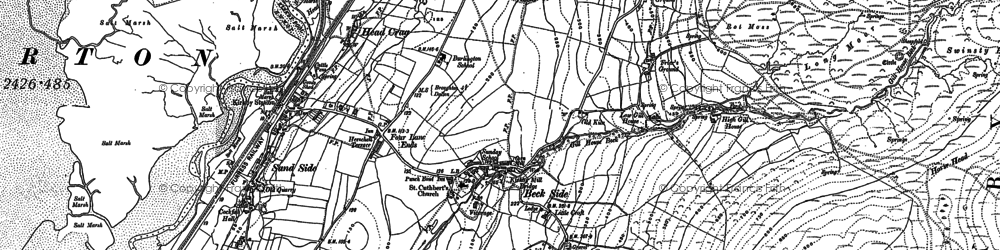 Old map of Bank House Moor in 1911