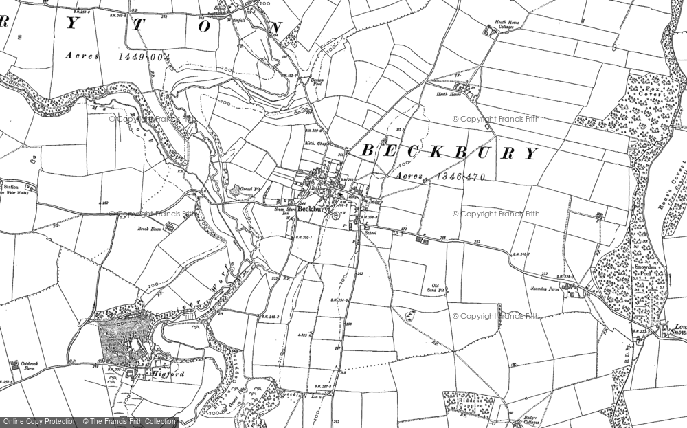Old Map of Beckbury, 1881 - 1883 in 1881