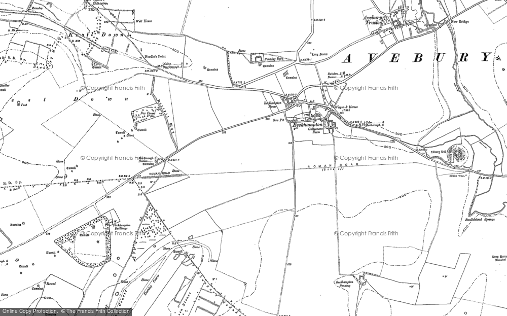 Old Map of Historic Map covering Allington Down in 1899