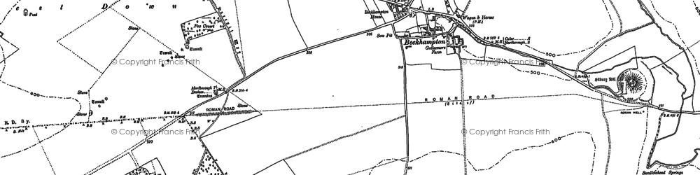 Old map of Beckhampton in 1899