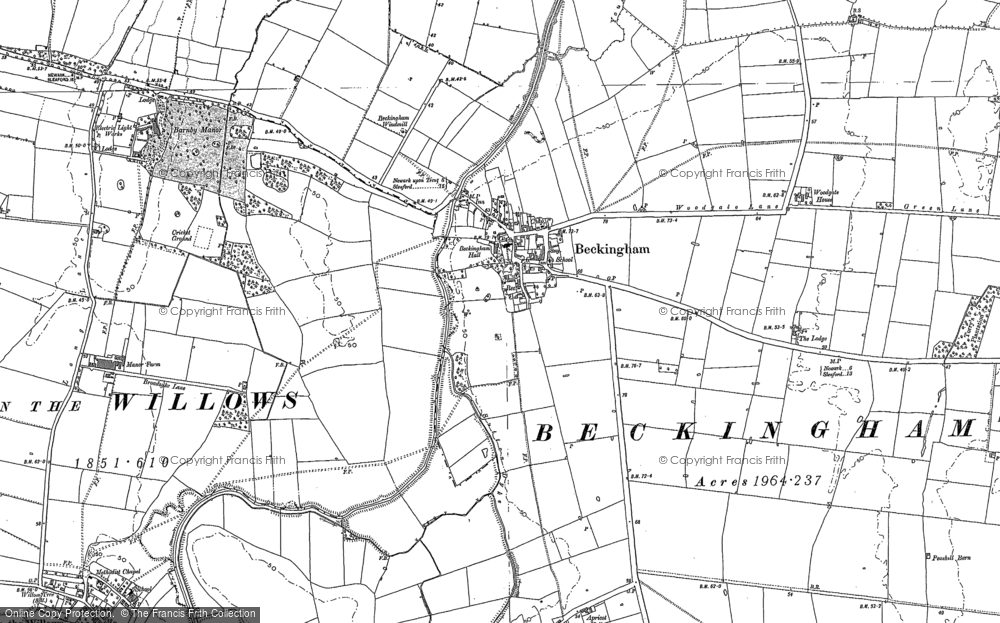 Old Map of Beckingham, 1886 - 1904 in 1886