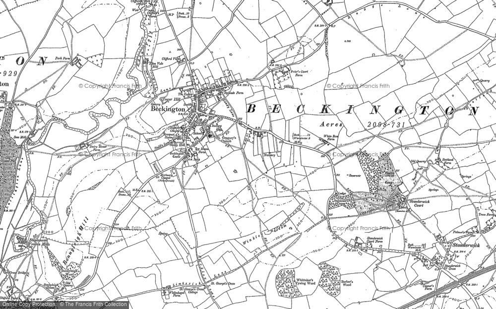 Old Map of Beckington, 1902 in 1902
