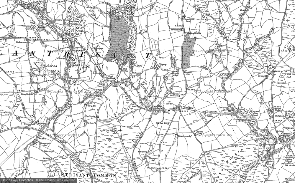 Old Map of Beddau, 1897 - 1898 in 1897
