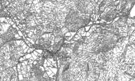 Old Map of Beddgelert, 1878 - 1899