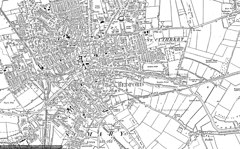 Map Of Bedford Map of Bedford, 1882   Francis Frith