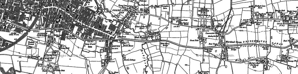Old map of Bedford in 1892