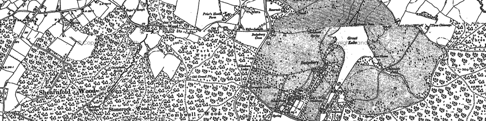 Old map of Bedgebury in 1907