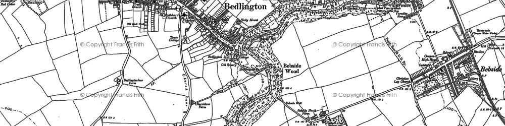 Old map of Bedlington in 1896