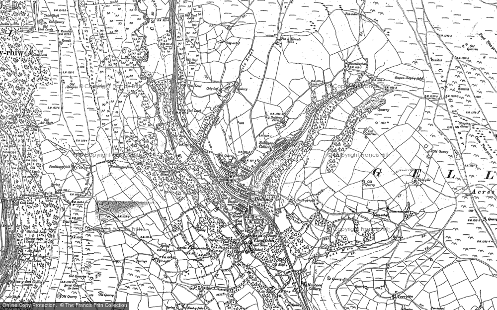 Old Map of Historic Map covering Bargod Taf in 1898