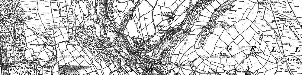 Old map of Bargod Taf in 1898