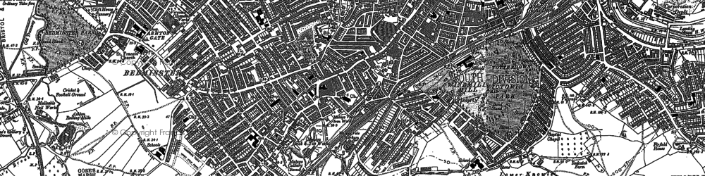 Old map of Bedminster in 1902