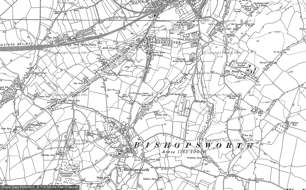 Old Map of Bedminster Down, 1902 in 1902