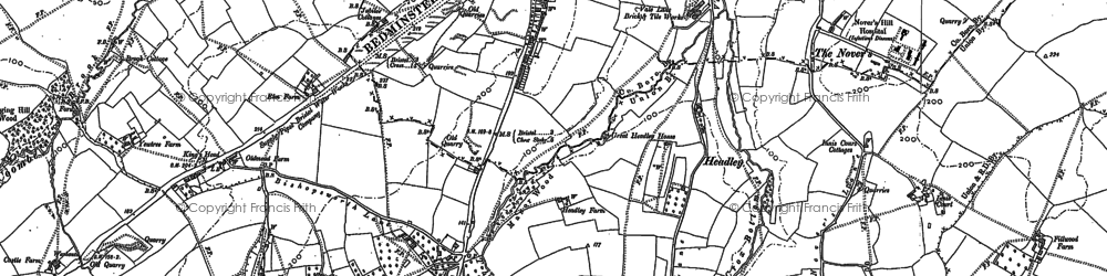 Old map of Bedminster Down in 1902