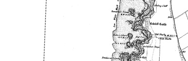 Old map of Bedruthan Steps centred on your home