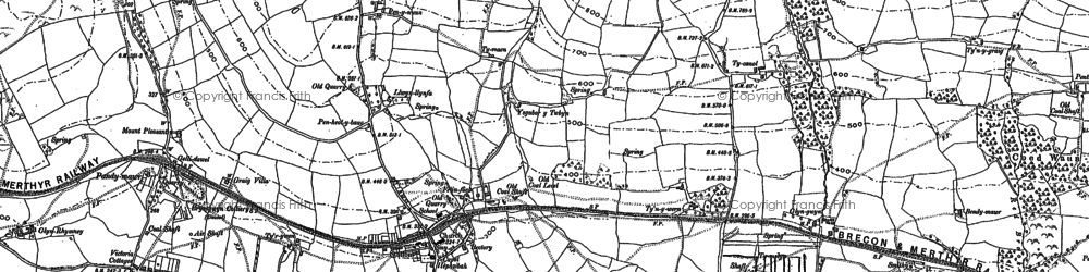 Old map of Bedwas in 1915