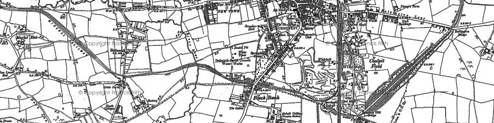 Old map of Bedworth in 1886