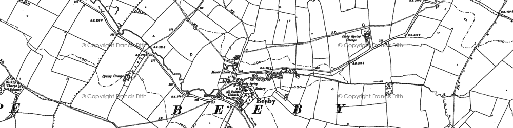 Old map of Beeby in 1884