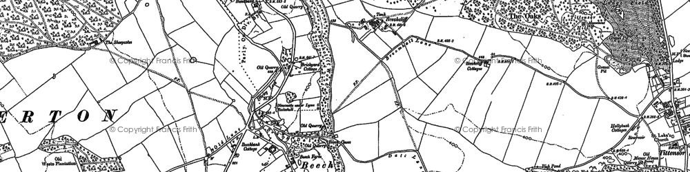 Old map of Toft, The in 1879