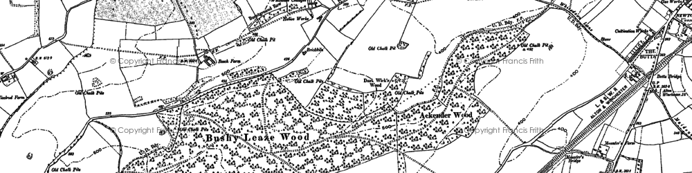 Old map of Ackender Wood in 1895