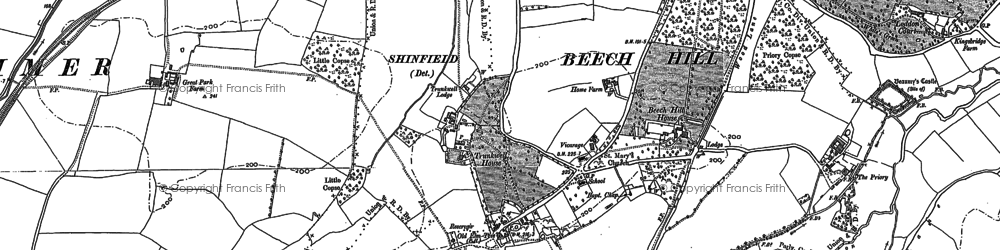 Old map of Beech Hill in 1909