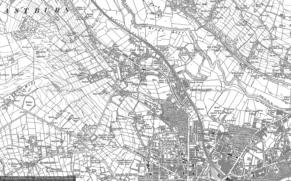 Old Map of Historic Map covering Alder Carr Wood in 1892