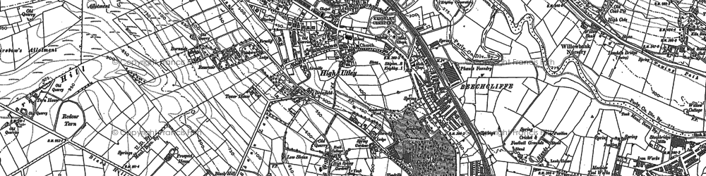 Old map of Alder Carr Wood in 1892