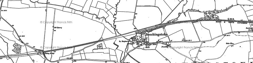 Old map of Beechingstoke in 1899