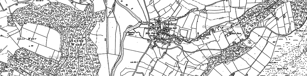 Old map of Limetree Wood in 1879