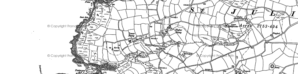 Old map of Beeny in 1905