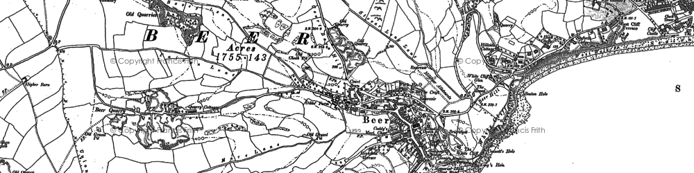Old map of Beer in 1903