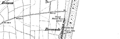 Old map of Beesands centred on your home