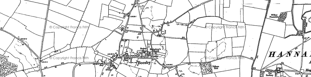 Old map of Beesby in 1887