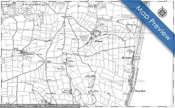 Old Map of Historic Map covering Beesands in 1905