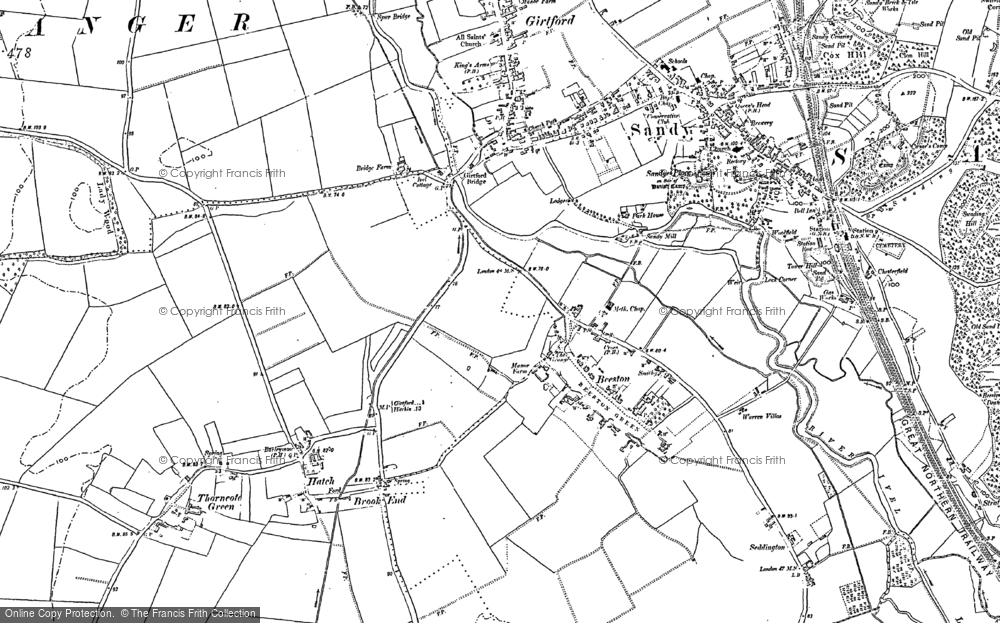 Old Map of Beeston, 1882 - 1900 in 1882