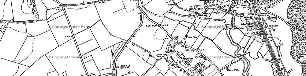 Old map of Beeston in 1882