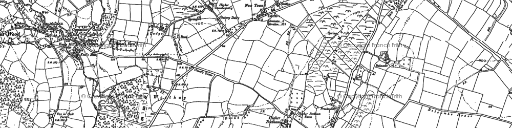 Old map of Beetham in 1901