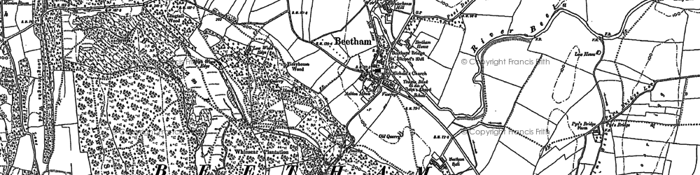 Old map of Beetham in 1911