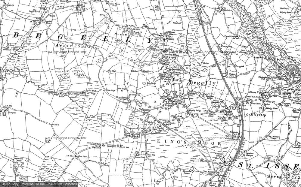 Old Map of Historic Map covering Langdon in 1906