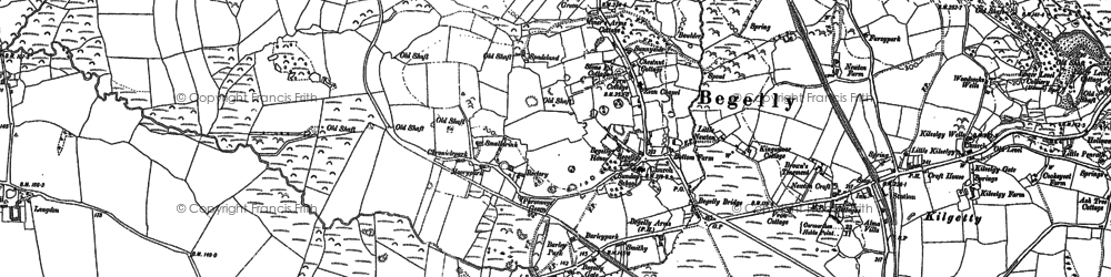 Old map of Langdon in 1906