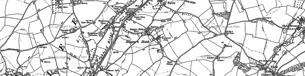 Old map of Bardon in 1887