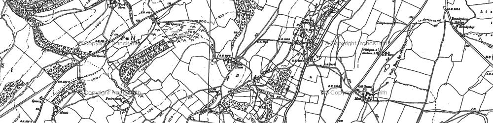 Old map of Belan in 1884