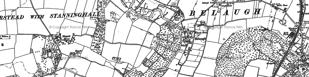 Old map of Belaugh in 1880