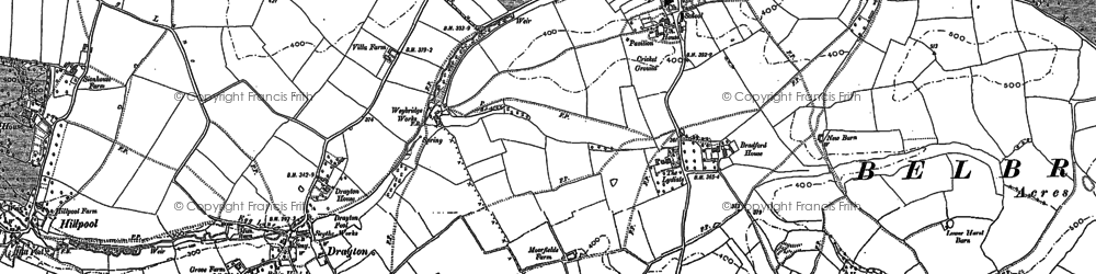 Old map of Belbroughton in 1882