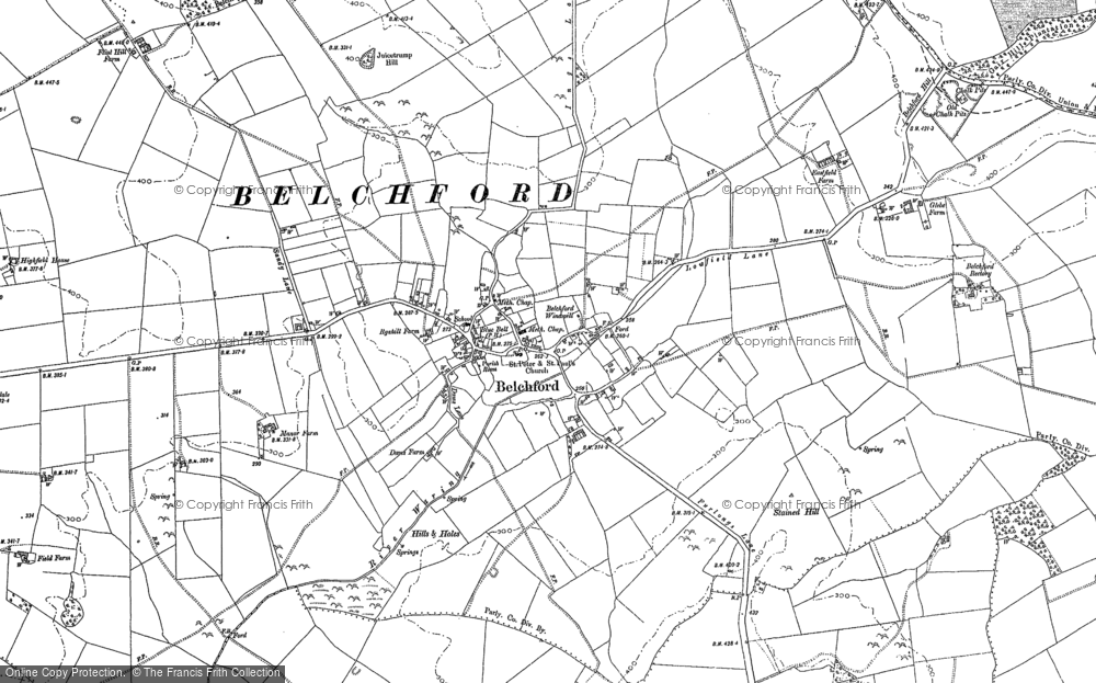 Old Map of Belchford, 1887 - 1888 in 1887