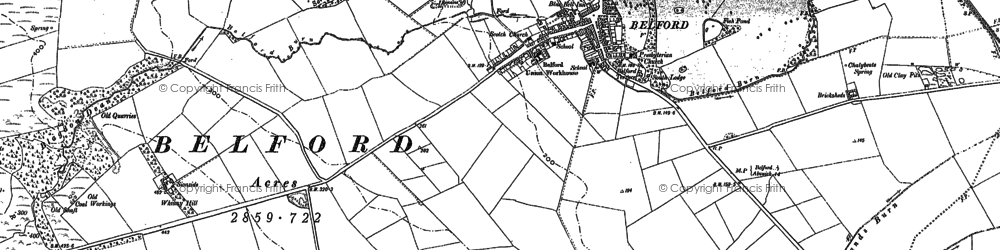 Old map of Whitelee in 1897