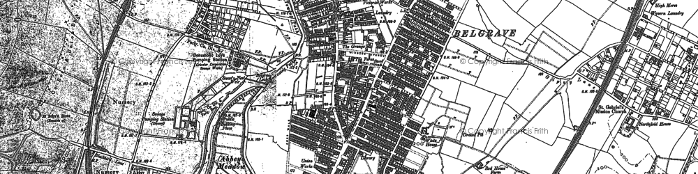 Old map of Belgrave in 1898
